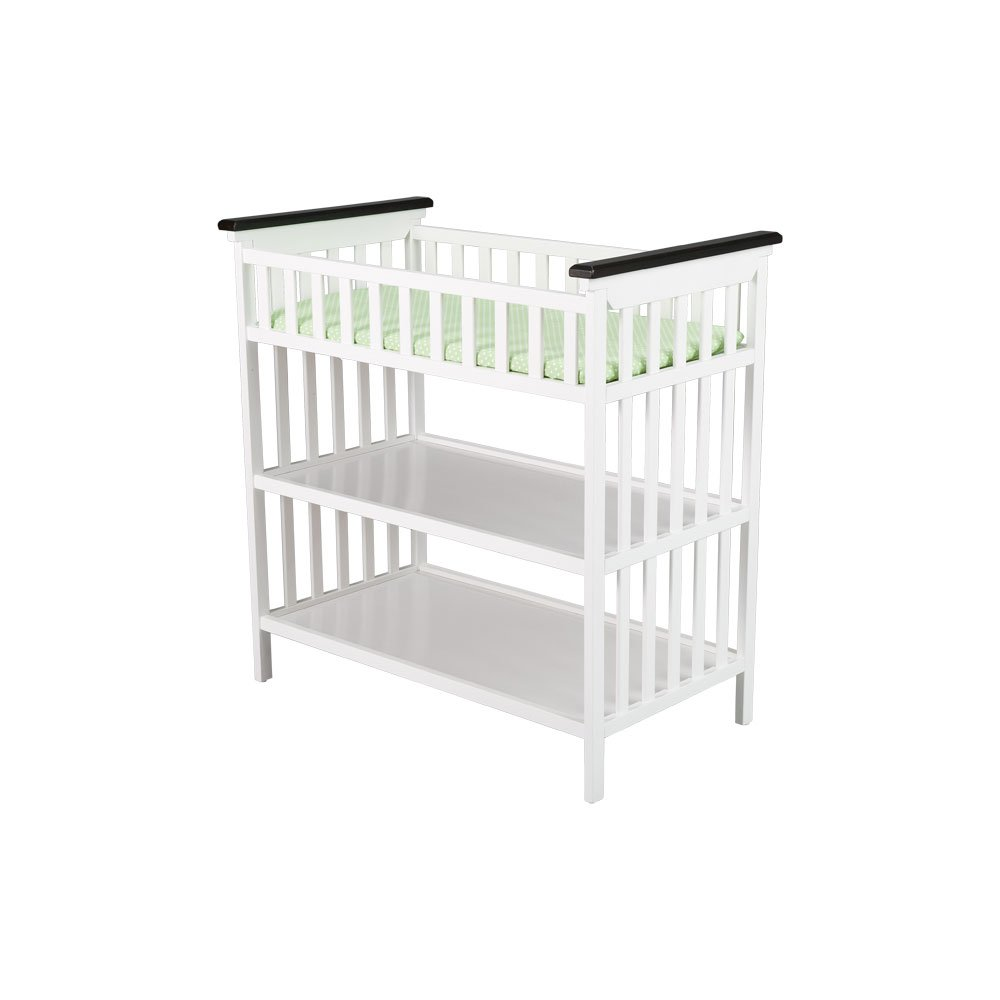 Delta Saint Martin Changing Table, Two Toned Espresso and White Discontinued by Manufacturer