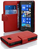 Cadorabo - Book Style Wallet Design for Nokia Lumia 820 with 2 Card Slots and Money Pouch - Etui Case Cover Protection in CANDY-APPLE-RED