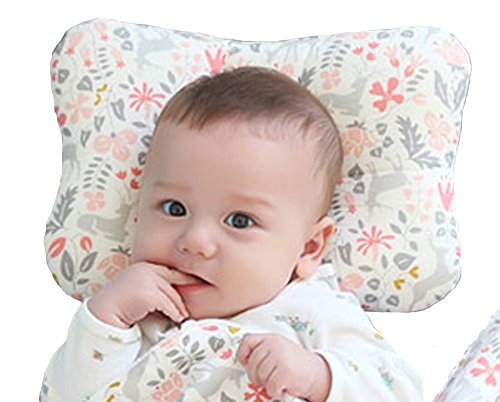 Baby Pillow For Newborn Breathable 3-Dimentional Air Mesh Organic Cotton, Protection for Flat Head Syndrome Bambi - California New Outlets In