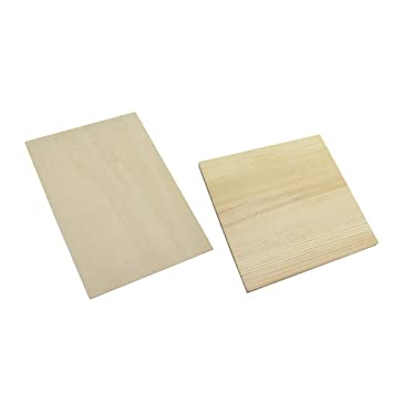 Amazon.com: Baosity 2Pc Plain Blank Square Rectangle Wood ...