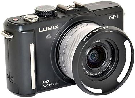 JJC LH-37EPII Metal Lens Hood Shade for Panasonic Lumix G Vario 12-32mm f//3.5-5.6 ASPH Olympus M.Zuiko Digital ED 14-42mm f//3.5-5.6 EZ Lens