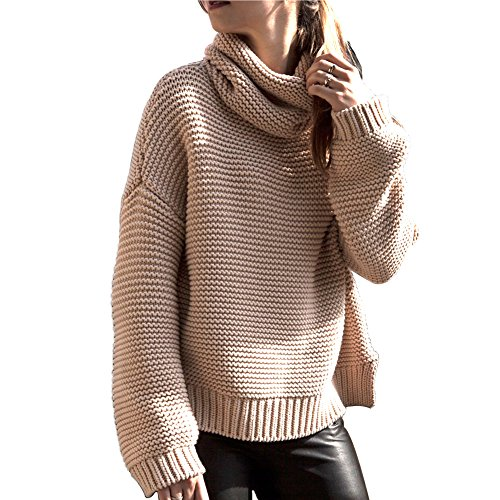 Womens Long Sleeve Turtleneck Sweater - 3