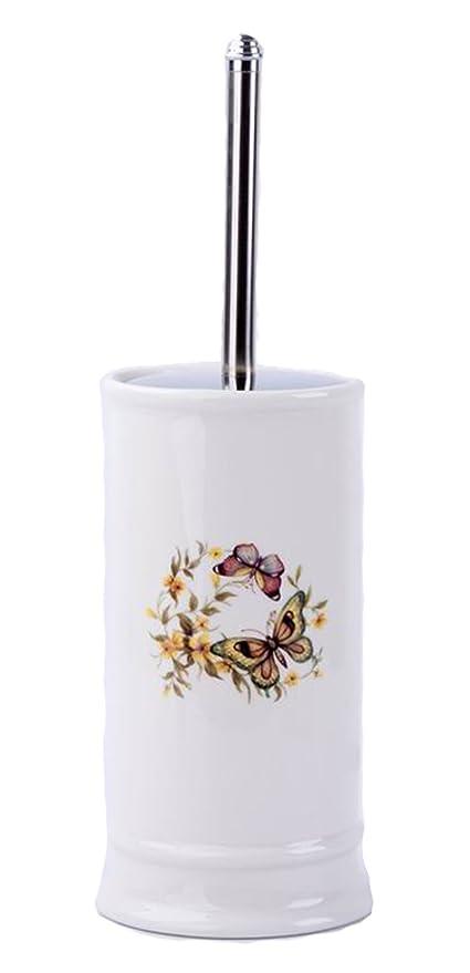 GMMH Rústico Vintage badset Mariposas – Accesorios de baño dispensador de jabón de cerámica (WC