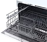 magic chef mcscd6w5 6 plate countertop dishwasher white