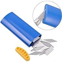 (1PCS Blade Disposal Case) - FOSHIO 1PCS Blue 30 Degree Cutter Knife Blade Disposal Case Razor Container Storage Box