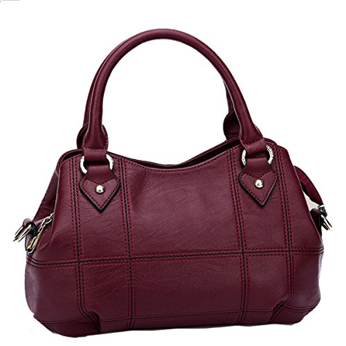 Fourre-tout Besace Messenger Bag Ladies Sac à Main Femme Sac à Main Sacs À Bandoulière Sacs Pour Maman Lady Rencontres Shopping Voyager RedGrid
