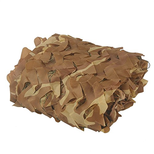Camouflage Netting, HYOUT 6.5x10ft Camo Net Blinds Great For Sunshade Camping Shooting Hunting etc,Desert ()