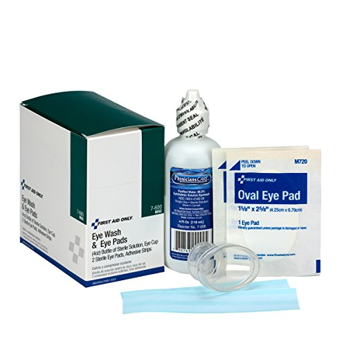 Emergency Flush - First Aid Only 7-600 6 Piece Eye Wash Kit