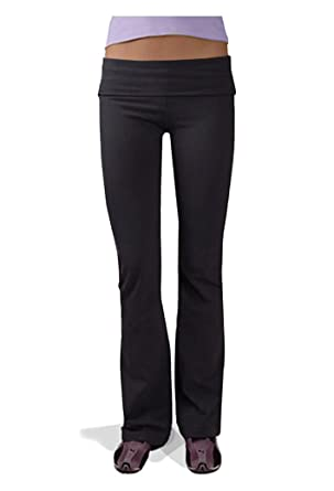 a30f011726704 Image Unavailable. Image not available for. Color: Hardtail Roll Down Boot  Leg Yoga Pants ...