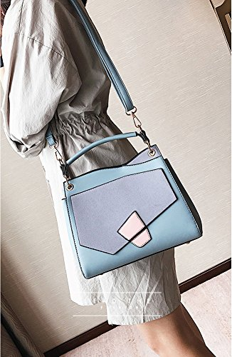 For handle Bags Girls Blue Top Bags Hit Shoulder Handbag Color Wild Crossbody Women's Bags S0xwTUPf