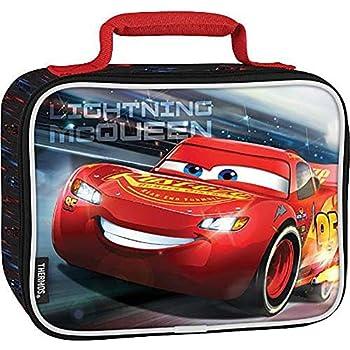 Amazon.com: Disney Cars Lighting McQueen - Fiambrera escolar ...