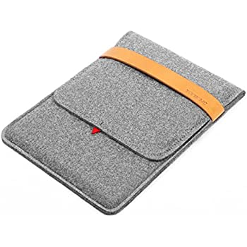 TOPHOME Tablet Sleeve Bag Case Carrying Protector Genuine Leather Lock for Apple iPad Air/iPad Air 2/ 9.7-inch iPad Pro, Grey