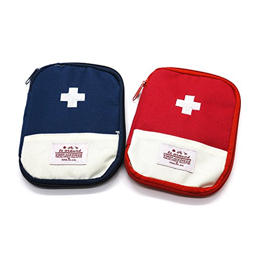 HUELE 2-Pack Empty First Aid Pouch Bag for Camping Travel-7.1x5.1 -