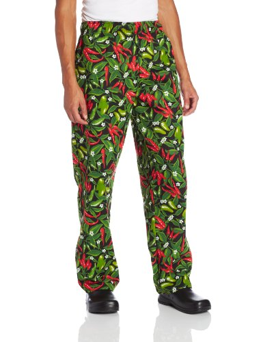 Dickies Men's The Traditional Baggy Chef Pant, Chili Pepper Small (Dickies Pepper)