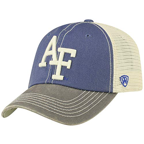 (Top of the World Adult Unisex's Offroad Snapback Mesh Back Adjustable Hat, Air Force Falcons Royal, One Size)