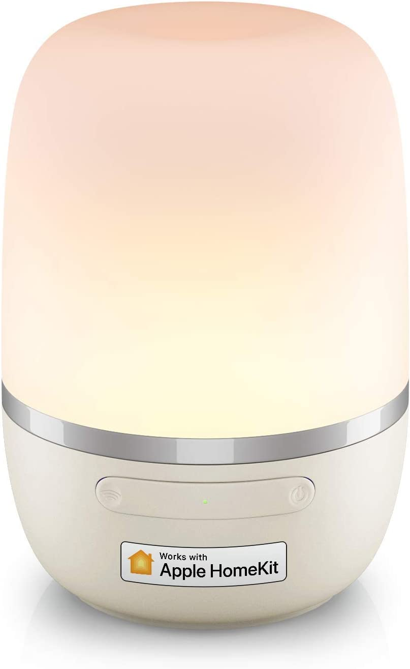 Smart Table Lamp, Meross Dimmable WiFi Ambient Lamp, Works with HomeKit (iOS13+), Alexa and Google Assistant, Tunable White and Multi-Color Nightstand Lamp, Voice Control, APP Control, Schedule