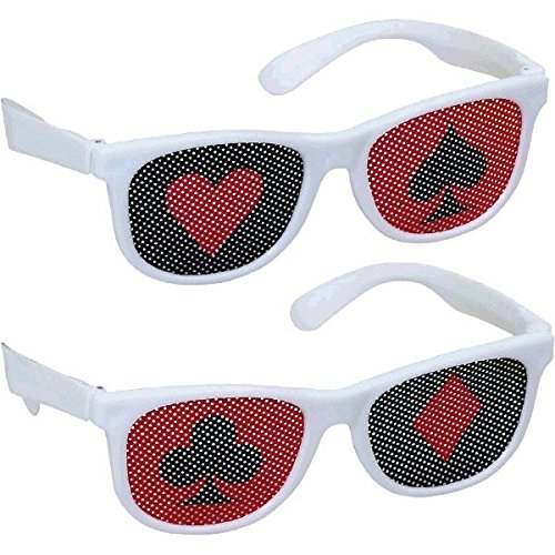 Casino Theme Party Costume Ideas (Amscan Printed Casino Eyeglasses (10 Piece), 13