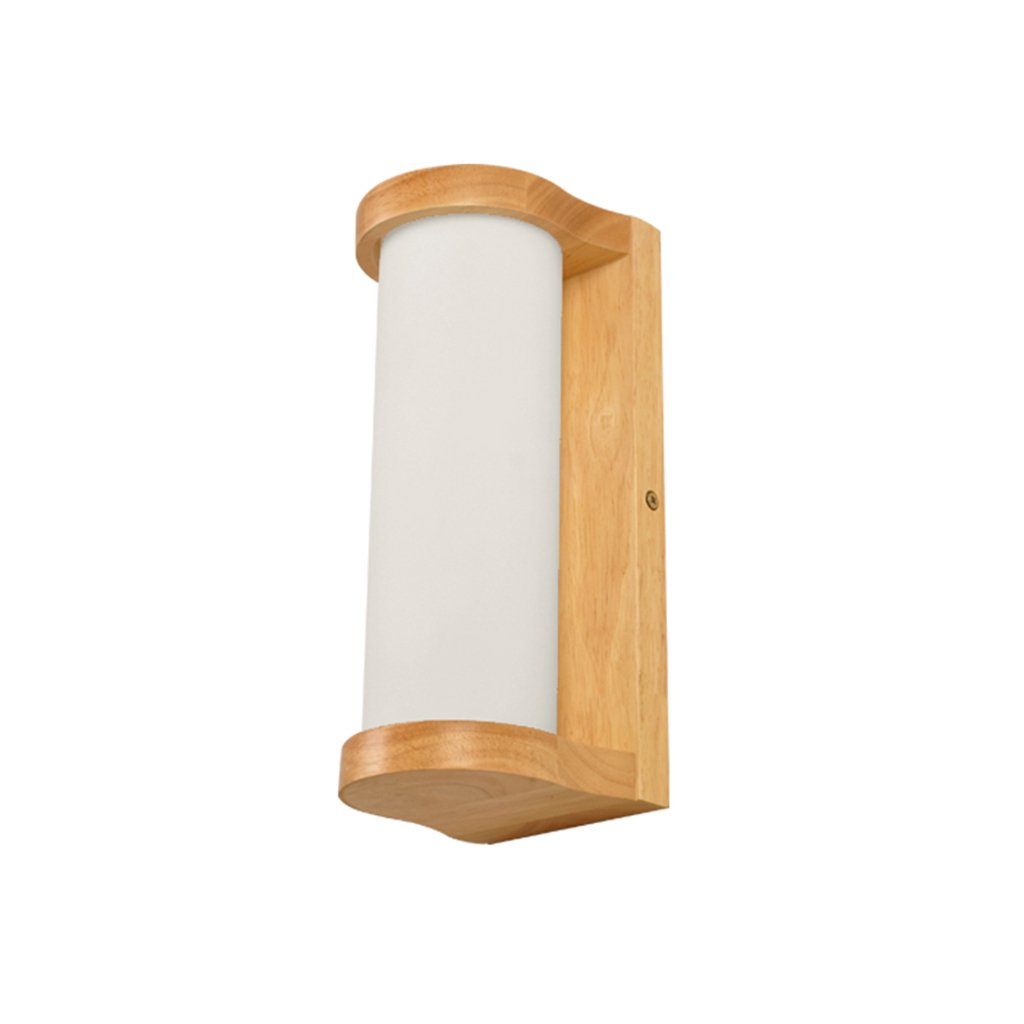 LED Wall Lamp, Living Room Bedroom Bedside Lamp Stairs Aisle Balcony Solid Wood Wall Lamp Marriage Room Decoration Lights Single Head E27 18 26.7CM ( Size : 1826.7CM )