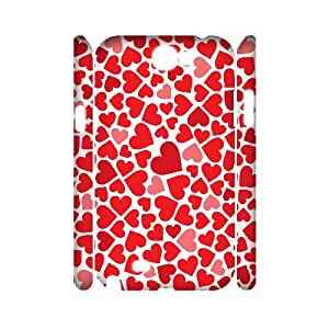 PCSTORE Phone Case Of Love Pink For Samsung Galaxy Note 2 N7100