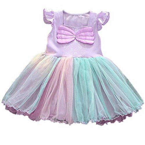 Girls Mermaid Dress Summer Tutu -
