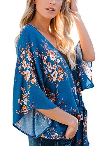 Chemise V Chic 4 Bouffant Vintage Printemps Mode Et Fleur Manches Motif Shirts Tops Chemisiers Femme Elgante 3 Haut Cou 11 Nou Loisir HCxqwvnO