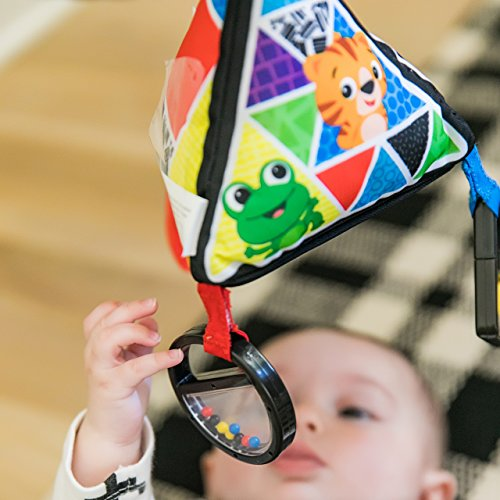 51lVnKdA6QL - Baby Einstein Playful Pyramid High Contrast Take-Along Toy, Newborns and Up