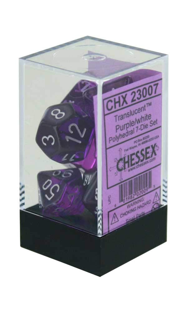 最新コレックション Polyhedral 7-Die Translucent Chessex Dice Polyhedral B0015IPGD2 Chessex Set - Purple B0015IPGD2, 足立区:f065b8ca --- cliente.opweb0005.servidorwebfacil.com