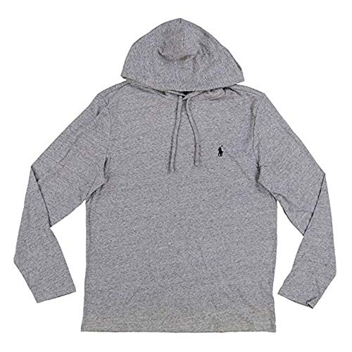 - Polo Ralph Lauren Mens Long Sleeve Jersy Hooded T (Grey Heather, X-Large)