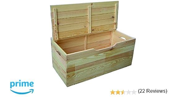 Blinky, 7971710 - Baúl de madera de tulipán con tapa: Amazon.es: Bricolaje y herramientas