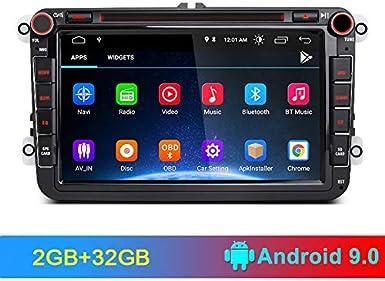 AWESAFE Android 9.0 [2GB+32GB] 8 Pulgadas Radio Coche con Pantalla ...