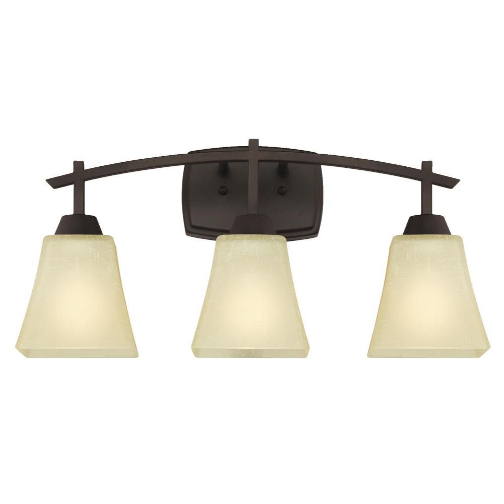Westinghouse  Midori ThreeLight Indoor Wall Fixture Oil - Rustic lighting for bathrooms