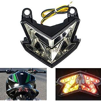 MZS Tail Light LED Turn Signal Blinker Integrated compatible Kawasaki Ninja ZX6R ZX-6R 2013-2018/ Z125 2016-2017/ Z125 Pro 2017-2018/ Z800 2013-2017 ...