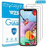 iPhone Xs Max Screen Protector,WZS Premium Tempered Glass with 99.99% HD Clarity and 3D Touch Accuracy, 6.5 inchTempered Glass Screen Protector for iPhone Xs Max [3-Pack]