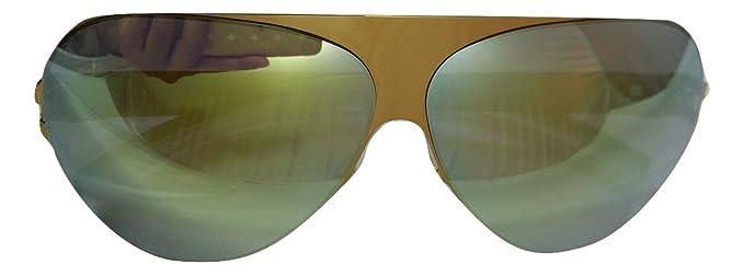 MYKITA   Bernhard Willhelm Yellow Franz lunettes de soleil en aviator à  cadre en métal en e17a2bf3fe77