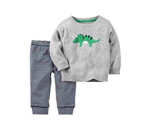 Carter's Baby Boys' 2-Piece Triceratops Sweater and Pants Set