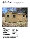 10' X 16' Saltbox Style Storage Shed Project Plans -Design # 71016