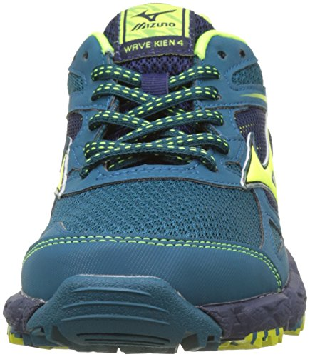 Mizuno Wave Kien G-TX Wos, Zapatillas de Running Para Mujer Multicolor (Bluecoral/safetyyellow/peacoat)
