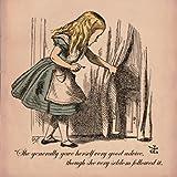 Alice in Wonderland Very good Advice Greetings Card 14x14cm
