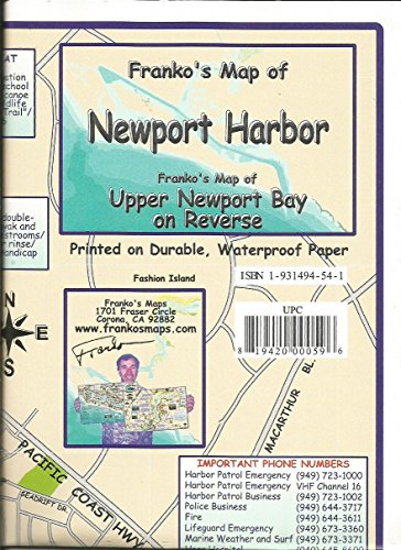 Franko's Map of Newport Harbor & Upper Newport Bay
