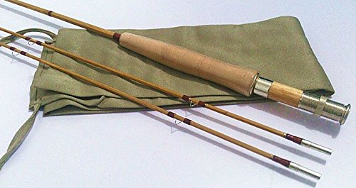 zhurod New Split Tonkin Bamboo Fly Rod,2 Piece 2 Tips,8'0