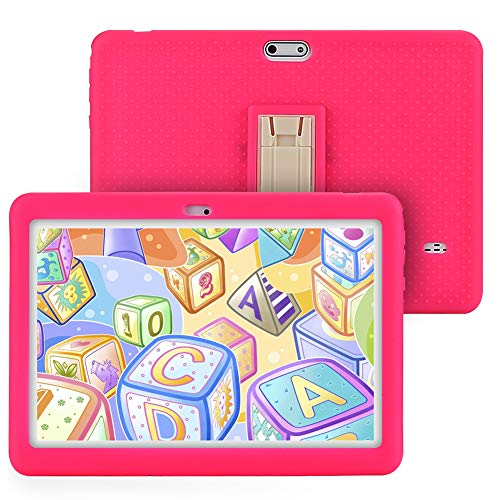Tagital T10K Kids Tablet 10.1 inch Display, Kids Mode Pre-Installed, with WiFi, Bluetooth and Games, Quad Core Processor, 1280x800 IPS HD Display (Pink)