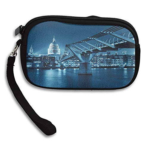 Cityscape Change Purse Millennium Bridge and St Pauls Cathedral at Night in London Monument Town Scenery W 5.9