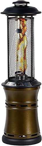 BALI OUTDOORS Propane Patio Heaters Floor-Standing Round Dancing Flame,Wheels,Quartz Glass Tube,Suitable For Balcony,Veranda,BBQ Party