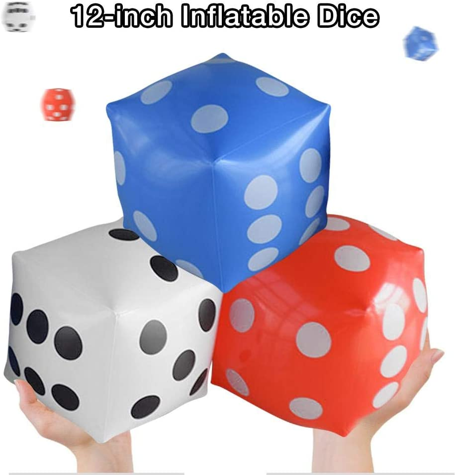 Sliveal Inflatable Dice 12-inch Oversized For Game Pool Toy Party advantage
