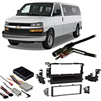 Fits Chevy Express 2003-2007 Single DIN Stereo Harness Radio Install Dash Kit