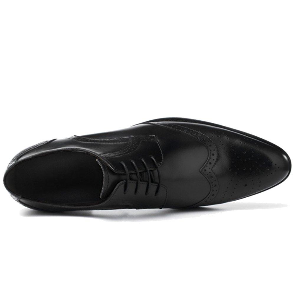 MERRYHE Echtes  Leder Alle Brogues   Echtes Herren Fashion Classic Zuschauer Schuh Formale Business Derby Schuhe Für Hochzeit Arbeit schwarz 1a5f7d