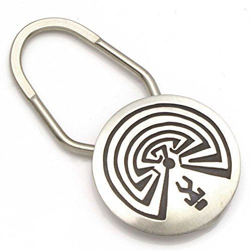 Man In The Maze Sterling Silver Key Fob | Chain | Ring By (Sterling Silver Maze)