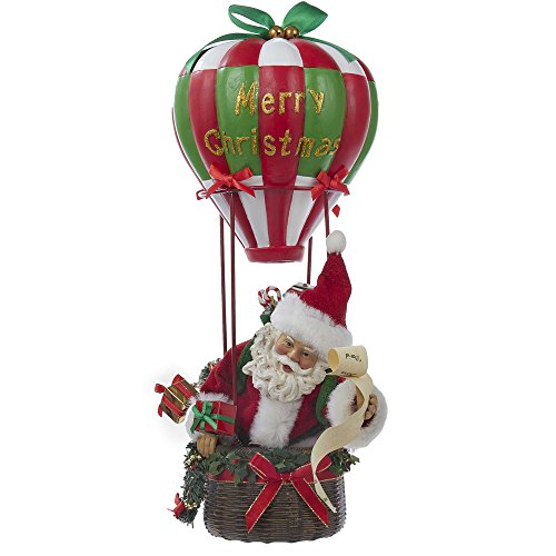 Kurt S. Adler Fabriche' Musical Santa Hot Air Balloon, 15...
