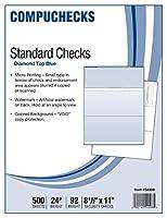 500 Blank Check Stock - Check on Top - Blue Diamond