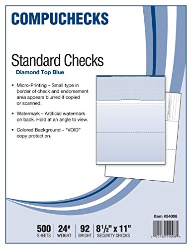 Compuchecks 2002 500 Blank Check Stock Check